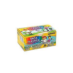 TINTA PLASTICA ACRILEX 6 CORES