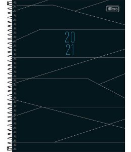 Agenda Espiral Planner Cambridge M9 Preta - Tilibra