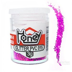 GLITTER PVC PINK POTES 3G HONEY