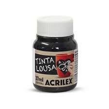 TINTA LOUSA REF.520 PRETO 37ML ACRILEX
