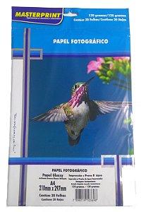 PAPEL FOTOGRAFICO A4 120G 20 FLS MASTERPRINT