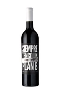 VINHO TINTO ARGENTINO SIEMPRE TENGO UN PLAN B BLACK MALBEC-PETIT VERDOT 2019 750ML