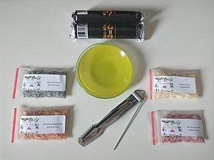 kit de Incensos de resina natural + Acessórios