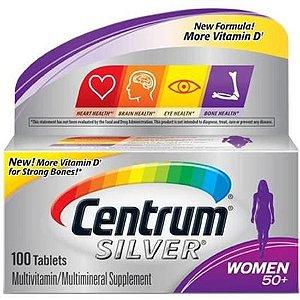 COMPLEXO VITAMÍNICO CENTRUM SILVER 50+  WOMEN 100 TABLETES