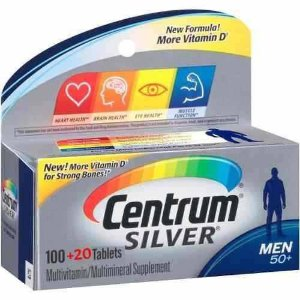 COMPLEXO VITAMÍNICO CENTRUM SILVER 50+  MEN 120 TABLETES