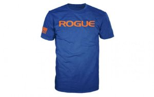 CAMISETA ROGUE FITNESS BÁSICA AZUL ROYAL