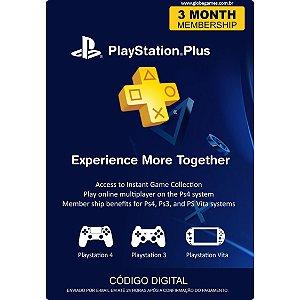 Cartão PSN Plus 3 Meses (PSN Americana)