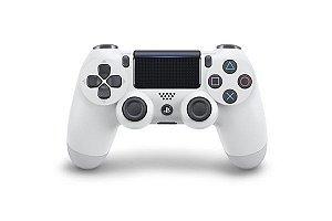 Controle Dualshock 4 Sem Fio Branco - Com led frontal - PS4