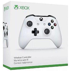 Controle Xbox One S Branco Wireless Sem Fio Original