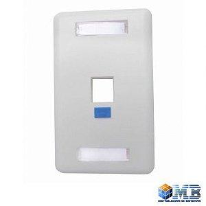 Espelho Plastico Branco 4x2 para 01 Keystone  Sollan - L101514