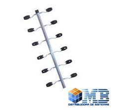 Haste Industrial de Canto 25X25 12 Isoladores/Gancho 1,00MT