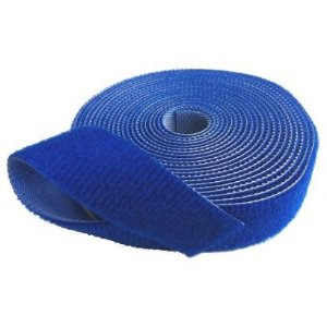 Velcro Dupla Face Slim Azul  3MT X 20MM - 29211