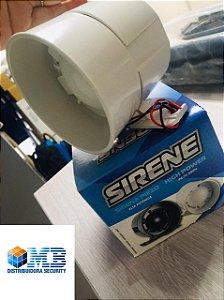 Sirene Piezo Elétrica 12V de 1 TOM br SIRETEC