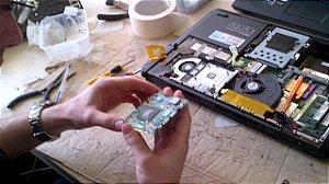 Reparo do chip de vídeo do notebook