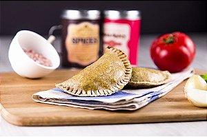 Empanada Integral Grão de Bico - Carne com Creme de Ricota