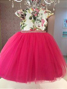 Vestido Floral Pink