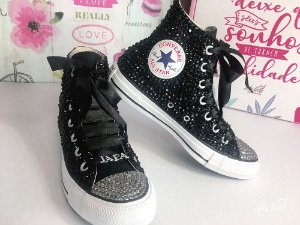 Tênis personalizado All Star Preto