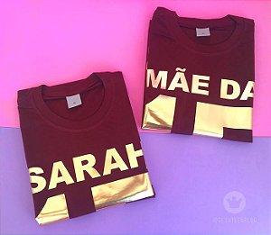 Kit de camisetas personalizadas mãe e filha - 15 anos