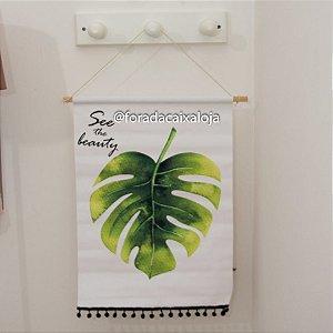 Flâmula em tecido - Folhas