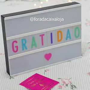 Cinema Light Box - Letras Coloridas