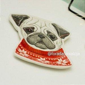 Mini Pratinho Decorativo - Pug fofo