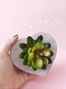 Vaso de cimento - modelo coração