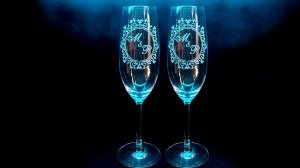 Taça de champanhe de cristal personalizada