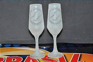 Taça de champanhe Bistrô personalizada com  jato total