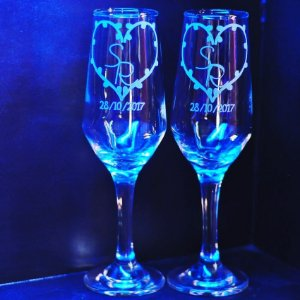 Taça de champanhe bistro personalizada