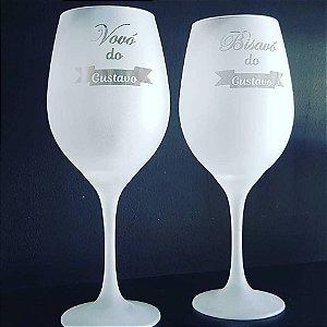 Taça de vinho de Vidro 600 ml Fosca Personalizada