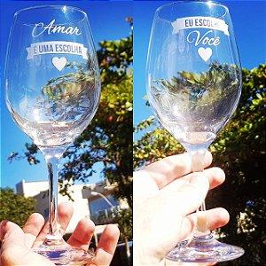 Taça de vinho  Vidro 600 ml Personalizada