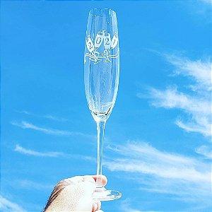 Taça de Espumante Cristal 280 ml Fulica