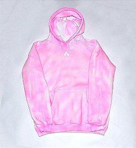Moletom feminino rosa neon pulverizado customizado