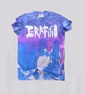 Camiseta dye lavada e amaciada Azul