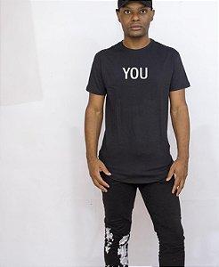 Camiseta preta longline