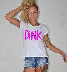 T-shirt feminina pink