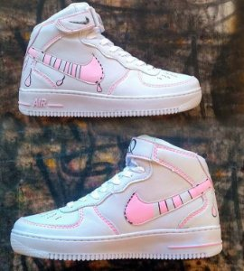 Nike air force mid feminino custom grafisil