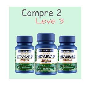 Vitamina D 2.000 UI - Compre 2 e leve 3