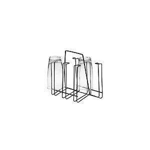 Schmitt Aramados - Porta Copos c/ Alça Lívia 20 x 18,5 cm - Grafite
