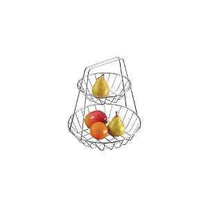 Schmitt Aramados - Fruteira Dupla Cintia 30 x 35 cm - Cromado