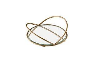 Schmitt Aramados - Bandeja Azaleia  Redonda Grande 20 x 4,5 cm - Dourado