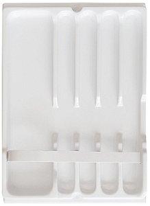 MoldPlast - Organizador de Gaveta Banheiro 15,3 x 21,7 cm Branco 1,0MM - OGB-02