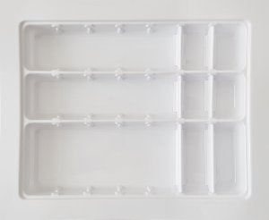 MoldPlast - Organizador de Gaveta Móvel 42,5 x 52,2 cm Branco 2,0mm - OGVM-01