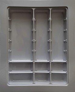 MoldPlast - Organizador de Gaveta Móvel  42,5 x 52,2 cm Cinza 2,0mm - OGVM-01