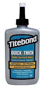 Titebond – Cola Adesiva Multiuso Quick & Thick Multi-Surface Glue Net 8 Fl. oz. 237ml (2403)