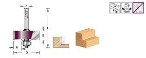 Amana Tool - AGE™ Pro-Series - Fresa Multi Rebaixos 34,93mm c/ 4 Rolamentos haste 6mm - Multi-Rabbet [FR231]