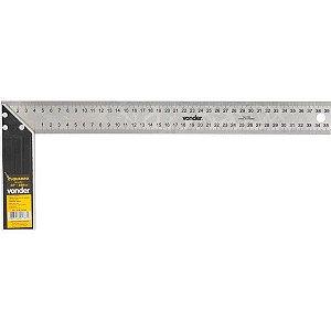 """Esquadro para carpinteiro 14"""" - 355 mm, em Inox com cabo de alumínio, VONDER"""