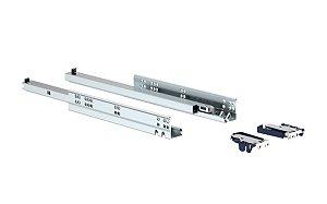 Trilho Invisível Soft Closing 500mm ET Zincado Branco - Soprano