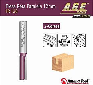 Amana Tool - AGE™ Pro-Series - Fresa Reta Paralela 12mm CURTO 73mm Túpia Haste 12mm [FR126] Straight Plunge