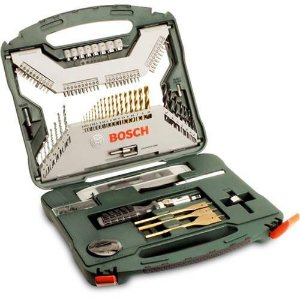 Jogo Xline Titanio 100 Peças - Bosch (Kit de acessórios - Bits e Brocas)